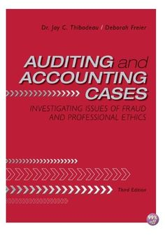 Solution manual download only for managerial accounting title solution manual for auditing and accounting cases investigating issues of fraud and professional ethics fandeluxe Gallery