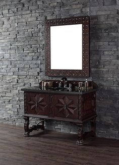 James Martin Balmoral (single) 48-Inch Antique Walnut Traditional Bathroom Vanity with Top Options