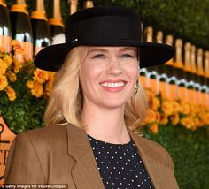 Accolades: In September, the star helped her on-screen husband Jon Hamm celebrate his Emmy...