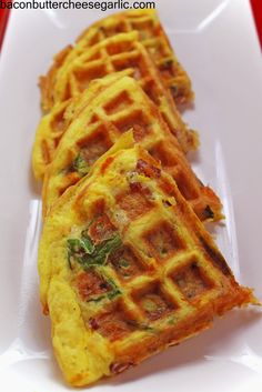 Bacon, Butter, Cheese & Garlic: Frittaffle...a frittata cooked in a waffle iron!