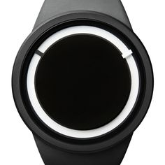 Eclipse watch in black by Ziiiro. Available at Dezeenwatchstore.com #watches