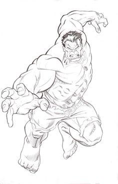 Hulk pencils by David Williams