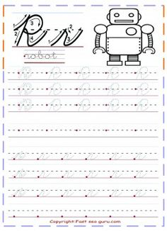 free printables cursive handwriting tracing worksheets letter r for robot for