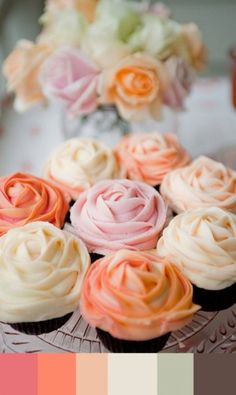 Colors & Food. Rose cupcakes