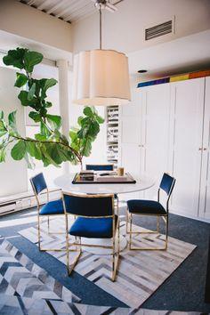 Bold indigo office chairs: http://www.stylemepretty.com/living/2015/08/10/trending-all-things-indigo/