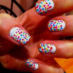 Hundreds and thousands nails