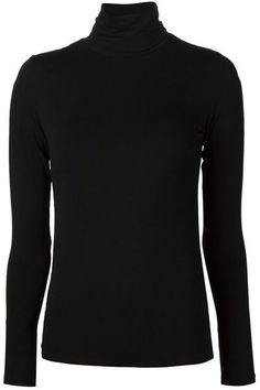 Black, navy or white turtleneck Capsule Wardrobe 2018, Wardrobe Basics, New Wardrobe, White Turtleneck, Turtleneck Shirt, Black Sweaters, Black Tops, Plain Black, Turtle Neck