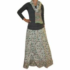 These long casual skirts in handloom woven cotton fabric are block printed in Indian flora fauna motifs make them attractive casual clothing. Women prefer to wear these skirts in spring and summer because these long cotton skirts have airy feel in summer.