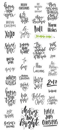 35 Christmas Photo Overlays by Favete Art on Creative Market: - Hand lettering - Typography Calligraphy Letters, Modern Calligraphy, Calligraphy Christmas, Christmas Typography Hand Lettering, Vintage Lettering, 3d Typography, Christmas Quotes, Christmas Crafts, Holiday Sayings