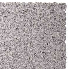 Could I possibly crochet a 9x7 rug like this Greige Flora Crocheted Rug | Serena & Lily