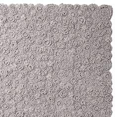 Greige Flora Crocheted Rug | Serena & Lily