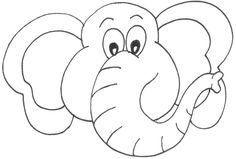 template for elephant | Elmer and Wilbur - Teaching Ideas and Resources