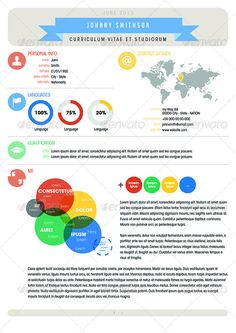 the 30 best creative infographic resume templates images on