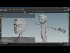 Modeling  3D Cartoon Character Topology - YouTube