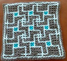 Interview with double filet/intermeshing crochet/interlocking crochet designer Nickerjac on Underground Crafter