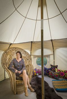 13ft Lotus Belle Outback Deluxe Glamping Tent by Lotusbelletents