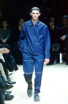 Comme des Garcons Homme Plus - StyleZeitgeist Blue Fashion, Vintage Fashion, Comme Des Garcons, Fashion Details, Runway, Normcore, Poster, Inspiration, Cat Walk