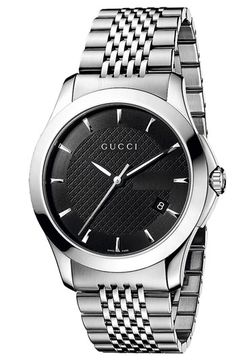 Gucci 'G Timeless' Stainless Steel Bracelet Watch available at #Nordstrom #GLWEHolidayGuide