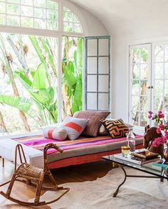 I styled Heidi Merrick's living room for an issue of @anthologymag a few years ago, I love how Heidi mixes color & pattern. Still love those windows too! For all you east coasters out there, this is why you move to LA! @hmerrick @laurejoliet