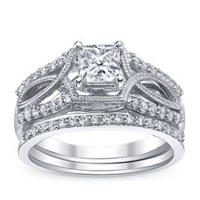 Robbins Brothers Designer Engagement Rings in the U Two collection