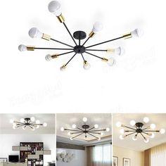 modern restaurant lighting multiple arms edison led bulb pendant