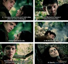 Well, that makes that scene quite a bit sadder - I remember watching  5x13  & thinking this scene looked like the one where Morgana was poisoned