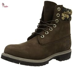 Timberland - 6 In Boot Ftb_6 In Double Collar Boot - Bottes Rembourrées Jambe Courte Classique, homme, brown (marrone (marrone)), taille 43 - Chaussures timberland (*Partner-Link)