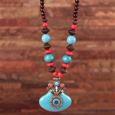 Redeem this Stunning Multi Color Wooden Tibetan Style Necklace for FREE only on LooksGud.in #LooksGudReward #Necklace