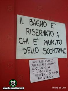 Bagno riservato | immagini | Bastardidentro Funny Images, Funny Pictures, Italian Humor, Wall Writing, Savage Quotes, Just Smile, Funny Posts, Funny Quotes, Jokes