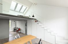 With clever storage and a retractable skylight, a London apartment feels larger than its 576 square feet.