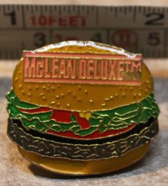 McDonalds McLean Deluxe Hamburger Employee Collectible Pinback Pin Button #McDonalds