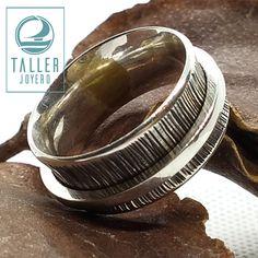 Anillo Spenner, giratorio o de relajación A0-201 #hechoamano - Taller Joyero confección y diseño de joyas, Joyería online.