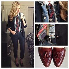Menswear- denim on denim Karla Reed's instagram