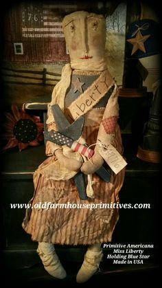 Primitive Americana Miss Liberty Holding Star (Made In USA)