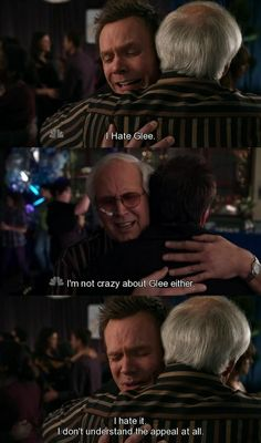 I hate Glee. One of the many reasons to love this show. Community Tv Show, Community Quotes, Community College, Cameron Diaz, T Bone, Joel Mchale, Geek Culture, Pop Culture, Comedy Show
