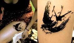 Salvador Dali inspired tattoo!  Swallow Tattoo