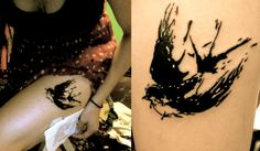 My Salvador Dali inspired tattoo!  #SalvadorDali #Salvador #Dali #Swallow #Tattoo #Bird #BlackInk #Painting