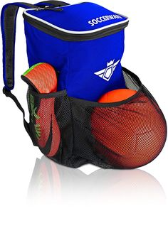 307feb7c9 Amazon.com   Soccer Backpack with Ball Holder Compartment - for Kids Youth  Boys   Girls
