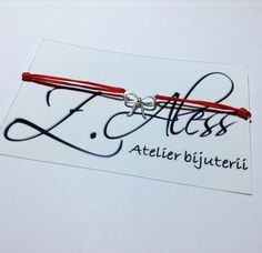 Red bracetel with silver 925 accessories by Z.Aless.