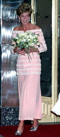 Princess Diana of Wales in Catherine Walker - Reopening of Savoy Hotel, July 1993