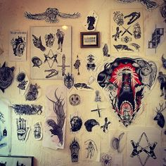 #wall_of_fame @toe_loop_tattoo_berlin  little part of my wall ;) for you #gael_cleinow #hand_job_tattoo #blacktattooart #blackworkersubmission #BLXCKINK #darkartists #tattoo #flashworkers #black #ink WAITING FOR YOUR SKIN !!!