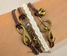 Handwoven personality infinite charm love music by Coolmybracelet, $3.99