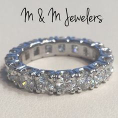 14K White Gold Diamond Total Weight 3ct Eternity by MandMJewelers