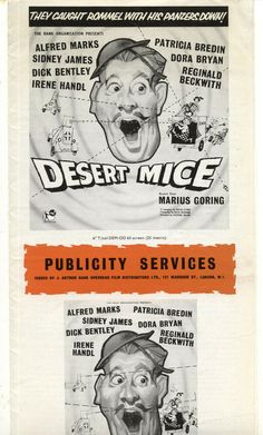 Fold out Press Brochure. size of Unfolded Brochure = cm - 34 cm aprox. Sidney James, Cinema Movies, Film, Comedy, Deserts, Campaign, Movie, Films, Film Stock