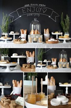Brunch party decorations buffet tables inspiration food displays Ideas for 2019 Wein Parties, Deco Buffet, Wine And Cheese Party, Food Stations, Cheese Platters, Cheese Bar, Wine Cheese, Cheese Tasting, Cheese Shop
