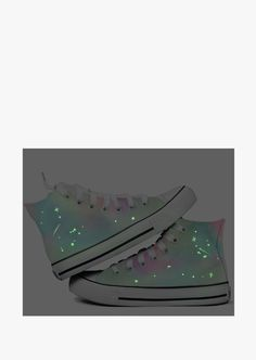 This item is shipped in 48 hours, included the weekends. Sneaker in rainbow glow in the dark, you can not be ignore even in the dark! Ultra-cool shoes, a nice choice for hanging out in the town with y                                                                                                                                                                                 More
