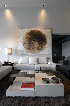 *modern interiors, living room, Cassina note low table*