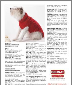 Knits for pets Crochet Dog Sweater Free Pattern, Dog Coat Pattern, Crochet Dog Patterns, Knit Dog Sweater, Crochet Ideas, Knitting Patterns, Crochet Dog Clothes, Pet Clothes, Pug
