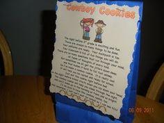 Back to School Cowboy Cookie poem