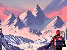 Dribbble - Every Mountain: Alpine by Brian Edward Miller
